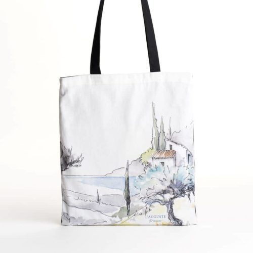 """L'auguste Provence - Sac coton tote bag """"Oliviers"""""""